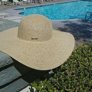 Calvin Klein Gold DetaSequin Straw Hat